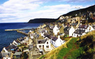 Gardenstown overlooking harbour