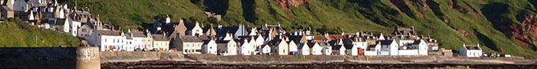 The village of Gardenstown from the sea