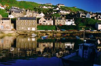 Harbour in Gardenstown Village